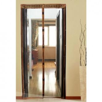 Антимоскитная сетка штора на дверь на магнитах Magic mesh без рисунка (220х110). Шаргород. фото 1