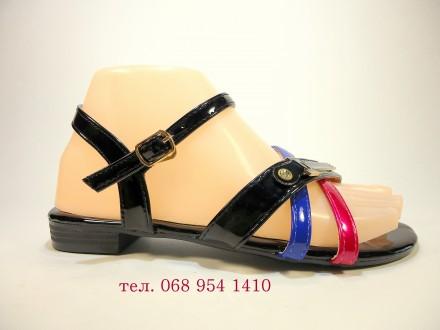 Босоножки - сандалии, женские, летние, черные, модные. Размер 36-41.. Хмельницкий. фото 1