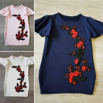 Летние платья-туники, разные модели и цвета от 92-128см. Сумы. фото 1