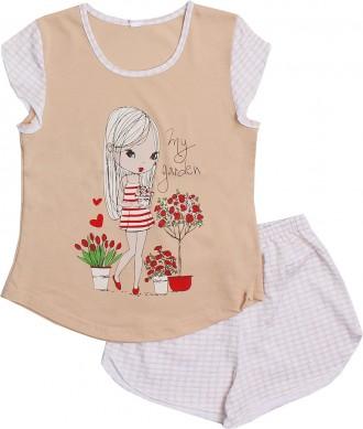 Пижамы с шортами для девочек. Северодонецк. фото 1