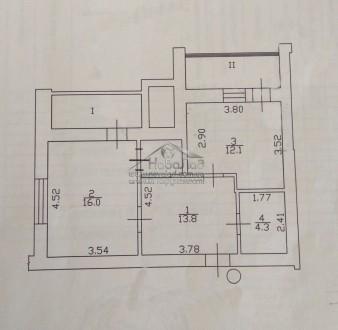 1 комнатная квартира, центр, иавтономка. Чернигов. фото 1