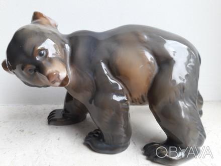 Фарфоровая статуэтка медведь. Rosenthal, Германия. 1944г