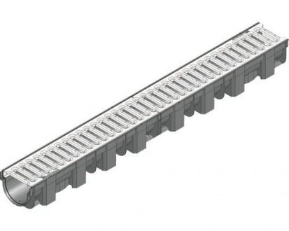 Желоб Hauraton TOP Х PE-PP черный с оцинкованной решеткой 119х89х1000 мм. Винница. фото 1
