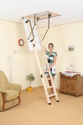 Чердачная лестница OMAN TERMO PS с поручнем 120х70 см. Винница. фото 1