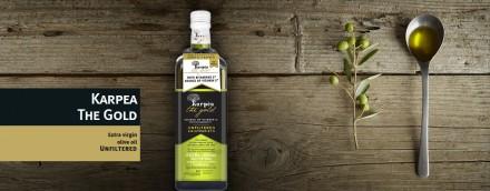 Премиум оливковое масло нефильтрованное «KARPEA THE GOLD» с/б 1литр.. Киев. фото 1