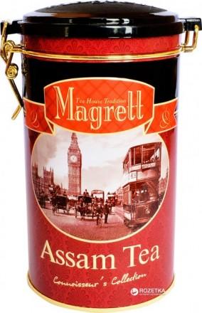 Индийский крупнолистовой черный чай ассам Magrett 200 г.. Миколаїв. фото 1