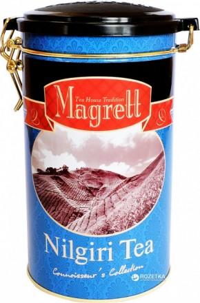 Индийский крупнолистовой черный чай нилгири Magrett 200 г.. Миколаїв. фото 1