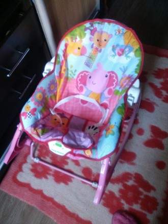 Новый Шезлонг-качалка на ребенка весом до 18 кг: одинаково подойдет как новорожд. Чернигов, Черниговская область. фото 3