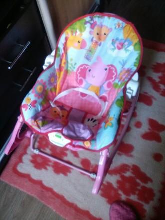 Новый Шезлонг-качалка на ребенка весом до 18 кг: одинаково подойдет как новорожд. Чернигов, Черниговская область. фото 5