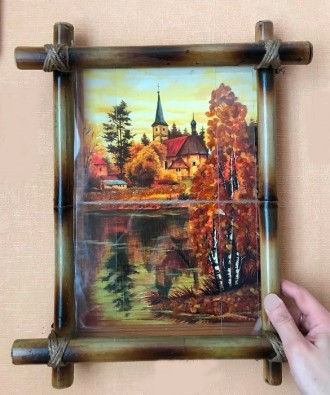 Рамки для картин и фото из бамбука под заказ. Запорожье. фото 1