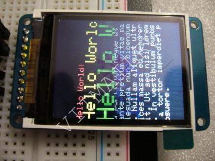 LCD TFT дисплей Adafruit 1.8'' 128×160 3-5В SD-слот для Arduino STM32. Александрия. фото 1