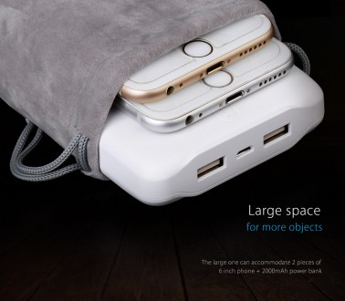 Cумка ORICO для переноски телефонов, повербанков 18x10 см 20x11 см. Львов. фото 1