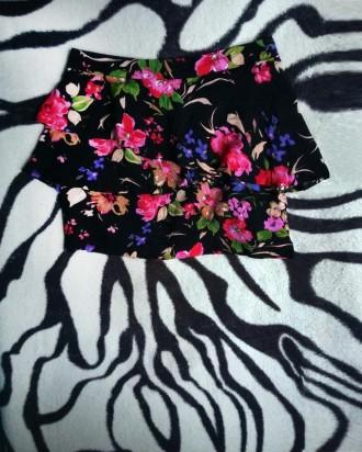 Черная цветная юбка. Полтава. фото 1