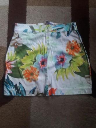 Летняя юбка в цветы. Полтава. фото 1