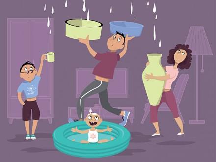 Находим. Протечки, утечки воды, влажность, топим соседей, утечка воды с труб. Киев. фото 1