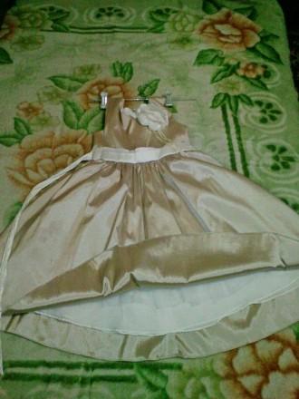 Золотисте плаття 6-12 років Атласне золоте плаття. 6-12 років,  ріст 116-152 с. Ковель, Волынская область. фото 4