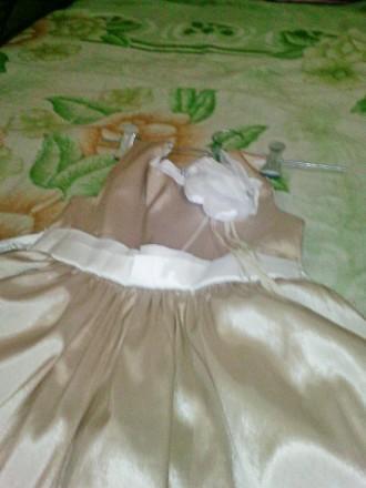 Золотисте плаття 6-12 років Атласне золоте плаття. 6-12 років,  ріст 116-152 с. Ковель, Волынская область. фото 3