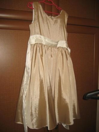 Золотисте плаття 6-12 років Атласне золоте плаття. 6-12 років,  ріст 116-152 с. Ковель, Волынская область. фото 2