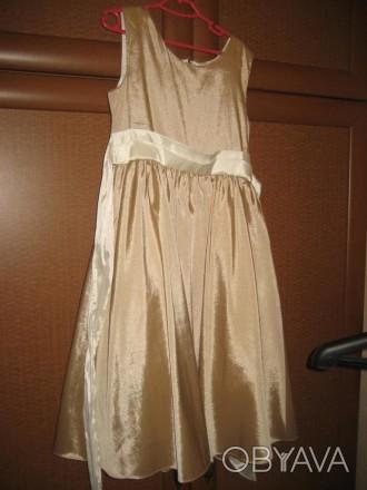 Золотисте плаття 6-12 років Атласне золоте плаття. 6-12 років,  ріст 116-152 с. Ковель, Волынская область. фото 1