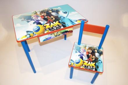 Детский стол и стул с изображением Зак Шторм от 1 до 6 лет (варианты). Киев. фото 1