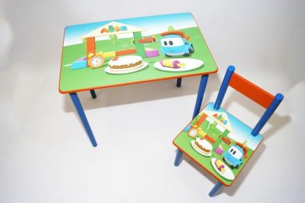 Детский стол и стул Грузовичок Лёва (стол и стул) от 1 до 6 лет. Киев. фото 1
