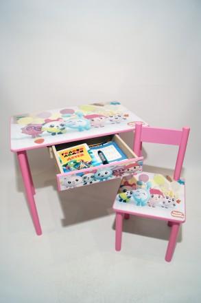 Детский стол и стул МАЛЫШАРИКИ (стол и стул) от 1 до 6 лет. Киев. фото 1