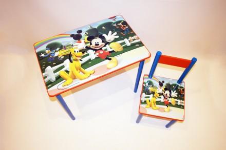 Детский стол и стул Микки Маус (стол и стул) от 1 до 6 лет. Киев. фото 1