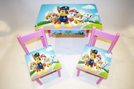 Детский стол и стул Щенячий Патруль (стол и стул) от 1 до 6 лет. Киев. фото 1