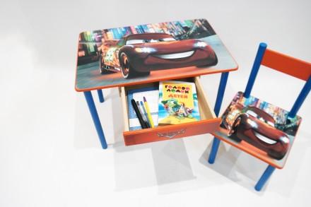 Детский стол и стул Тачки Маквин (стол и стул) от 1 до 6 лет. Киев. фото 1