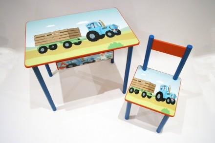 Детский стол и стул Для мальчика от 1 до 6 лет  (стол и стул). Киев. фото 1