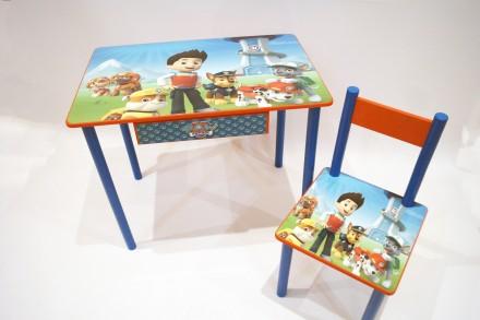 Детский стол и стул Щенячий Патруль ( от 1 до 6 лет ). Киев. фото 1