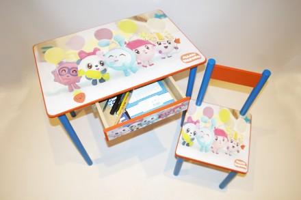 Детский стол и стул МАЛЫШАРИКИ  ( от 1 до 6 лет ). Киев. фото 1