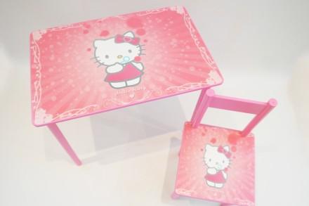 Детский столик и стульчик Хеллоу Китти (Hello Kitty) от 1 до 6 лет. Киев. фото 1