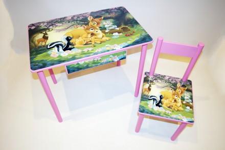 Детский столик с ящиком ( от 1 до 6 лет ) стол и стул. Киев. фото 1
