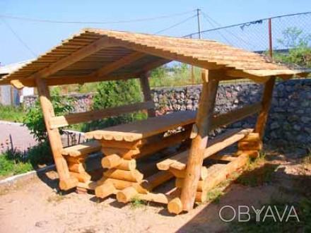 изготовим любую мебель из оцилиндрованного бревна. Семеновка, Черниговская область. фото 1