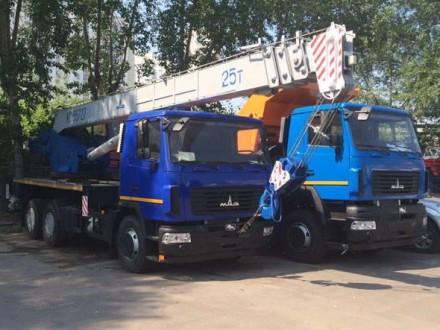 Новий автокран КС-55727-С-12 Машека 25 тонн, на шасі МАЗ-6312С3-529-010 (Е-5). Киев. фото 1