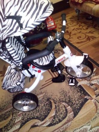 Велосипед трьохколісний з ручкою.Новий!. Калуш. фото 1
