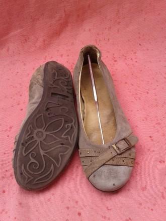 Туфли, балетки кожаные 36р. Горишные Плавни. фото 1