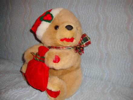Продам мягкую игрушку мишка новогодний.. Днепр. фото 1