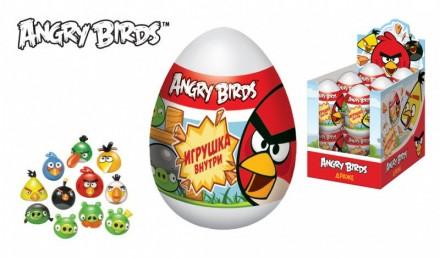 ANGRY BIRDS Драже в пластиковом яйце с игрушкой. Ахтырка. фото 1