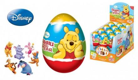 DISNEY Винни Пух Драже в пластиковом яйце с игрушкой. Ахтырка. фото 1
