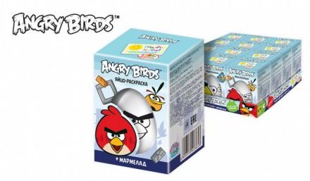 ANGRY BIRDS Мармелад в сах.глазури Яйцо-раскраска в коробочке. Ахтырка. фото 1
