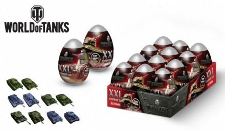 WORLD OF TANKS Мармелад в сах.глазури в пластиковом яйце xxl с 3D игрушкой. Ахтырка. фото 1