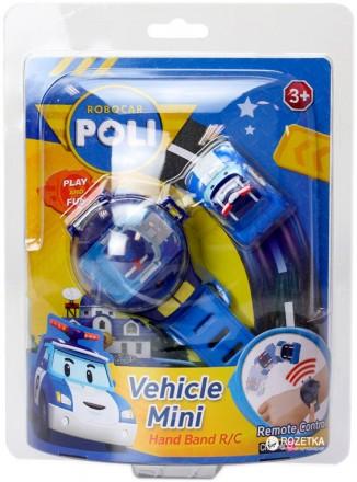 Часы Poli с мини машинкой на радиоуправлении Robocar Poli. Ахтырка. фото 1