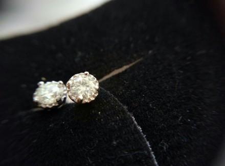 Пусеты с бриллиантами 0. 29 карата. Одесса. фото 1