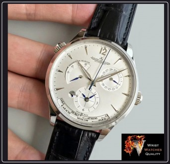 Jaeger-LeCoultre - Master Geographic World Time Silver dial Stainless steel Ref. Киев, Киевская область. фото 4