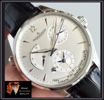 Jaeger-LeCoultre - Master Geographic World Time Silver dial Stainless steel Ref. Киев, Киевская область. фото 8