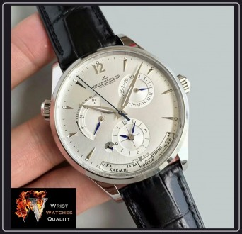 Jaeger-LeCoultre - Master Geographic World Time Silver dial Stainless steel Ref. Киев, Киевская область. фото 2