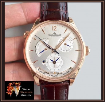 Jaeger-LeCoultre - Master Geographic World Time Silver dial Stainless steel Ref. Киев, Киевская область. фото 12