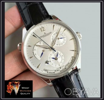 Jaeger-LeCoultre - Master Geographic World Time Silver dial Stainless steel Ref. Киев, Киевская область. фото 1